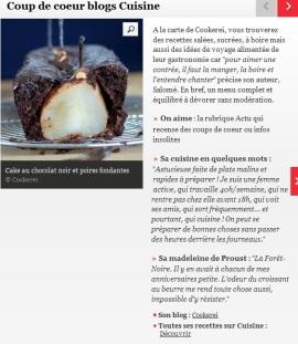 Cookerei est le coup de coeur blogs Cuisine du Journal des femmes - http://cuisine.journaldesfemmes.com/gastronomie/coup-de-coeur-blogs-cuisine/