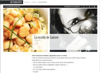 explorator.lu publie ma recette de tagliatelles aux St-Jacques sur son site - http://www.explorator.lu/actualites/La-recette-de-Salome_104