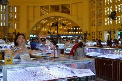 Le marché central de Phnom Penh