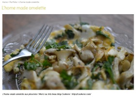 Prêt à pousser publie la recette de l'omelette aux pleurotes de Cookerei sur https://pretapousser.fr/portfolio/lhome-made-omelette/