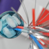 Cocktail du 14 juillet - Bleu, blanc, rouge