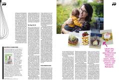 """Dossier """"Au secours je dois cuisiner"""" (en allemand) dans le magazine Telecran"""