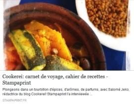 Interview sur le thème du voyage pour le site Stampaprint - à lire sur https://www.stampaprint.fr/blog/interviews/cookerei-carnet-de-voyage-et-cahier-de-recettes