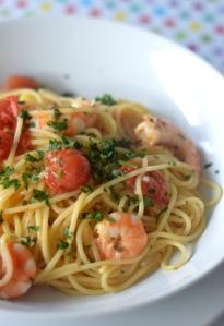 Spaghetti aux scampis