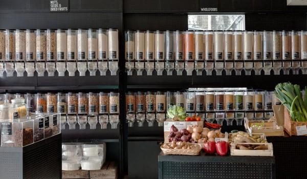 Exemple d'une épicerie du même type à Berlin (Source: consoglobe)