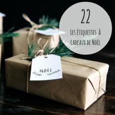 Envie de personnaliser vos cadeaux avec de jolies étiquettes? Rendez-vous sur http://www.gatherandfeast.com/resources/free-christmas-gift-tags, tout en bas de l'article, pour les télécharger. Source: http://www.gatherandfeast.com