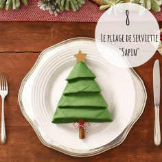 #DECO Pour plier vos serviettes de table en forme de sapin de Noël, suivez le guide ici: https://socialapps.publix.com/christmas/crafts/downloads/christmas-tree-napkins.pdf ou ici; https://www.youtube.com/watch?v=plkWFQ89XyE