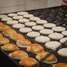 Les minis pancakes à piquer du bout de la fourchette