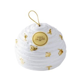 Bûche Boule Angelina - La clémentine est mise en valeur avec le citron, le sirop d'érable, les noix de macadamia caramélisées et les noix de pécan.