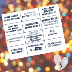 C'est cadeau : un bingo à cocher pour rigoler en douce durant les fêtes de fin d'année... ;-)